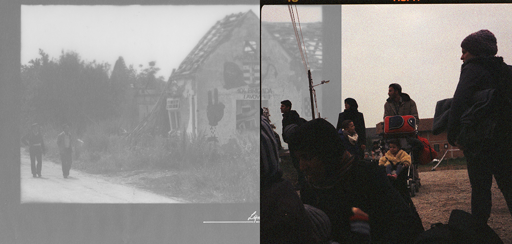 Collage; Kroatien; Lipik; 104 Brigada Lavovi 1993; Fluechtlinge 2015