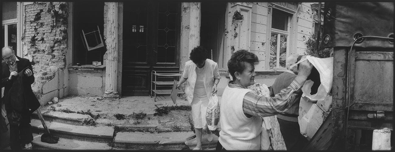 Kroatien; Slawonien; Pakarc; Verteilung von Hilfsguetern;1994