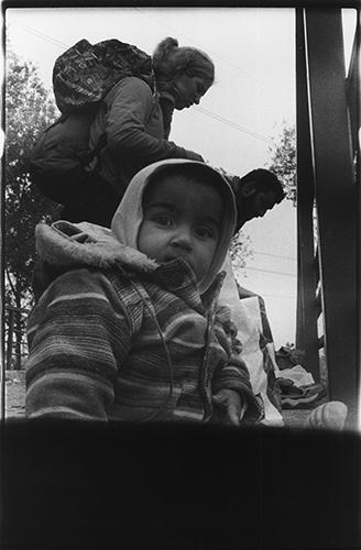 Fluechtlinge am serbisch-ungarischem Grenzuebergang; 2015