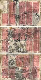Triptychon SIGNUM MORTIS, Collage Balkan, Wolf Böwig, 2020